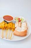MOO tailandese squisito SATAE di chiamata dell'alimento Fotografie Stock