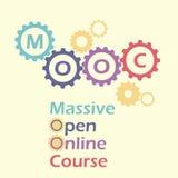 MOOC en engranajes y dientes Fotografía de archivo libre de regalías