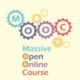 MOOC in toestellen en radertjes Royalty-vrije Stock Fotografie