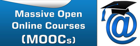MOOCs Horizontal Blue Royalty Free Stock Images