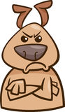 Mood angry dog cartoon illustration Stock Photo