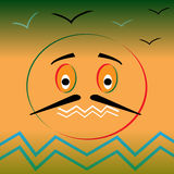 Mood- animated image. Vector illustration Royalty Free Stock Photos