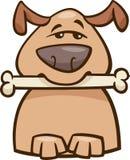 Mood busy dog cartoon illustration Stock Photography