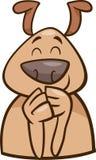 Mood cheerful dog cartoon illustration Stock Photography