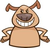Mood cruel dog cartoon illustration. Cartoon Illustration of Funny Dog Expressing Cruel or Malicious Mood or Emotion Royalty Free Stock Photos