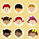 Mood or emotion of children, Avatars Stock Images