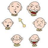 Mood Face Expression Icon Set Stock Photos