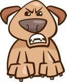 Mood furious dog cartoon illustration Stock Photos