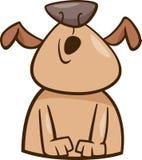 Mood howl dog cartoon illustration Stock Photography