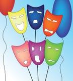 Mood masks set Stock Image
