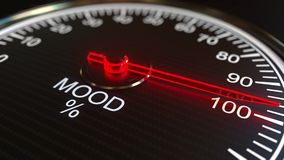 Mood meter or indicator 3D rendering. Mood meter or indicator. 3D rendering stock illustration