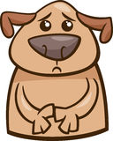 Mood sad dog cartoon illustration Stock Photos