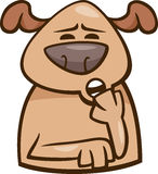Mood sleepy dog cartoon illustration Royalty Free Stock Photos