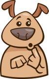 Mood surprised dog cartoon illustration Stock Photography