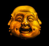 Moods. Gold musk with happy face Royalty Free Stock Images
