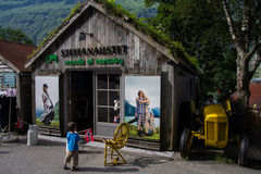 Moods of Norway in Geiranger. The Moods of Norway outlet in Geiranger in Norway Stock Photo