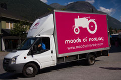 Moods of Norway logo. On a truck in Stryn, Norway Stock Images
