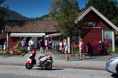 Moods of Norway. The Moods of Norway shop in Stryn in Norway. Hometown of the brand Stock Photography