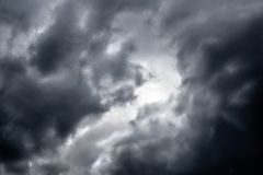 Moody-1. Ominous dark thunderstorm clouds in the sky royalty free stock photo