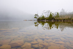 Moody alpine lake Royalty Free Stock Photos