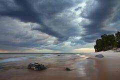 Moody Beach. Royalty Free Stock Photo