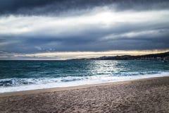 Moody beach Stock Image