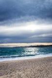 Moody beach Royalty Free Stock Image