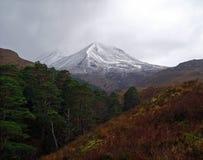 Moody Beinn Eighe Mountain, Scotland Stock Photo