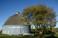 The Moody Blue Round Barn Stock Image