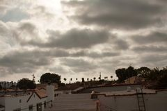 Moody Clouds Above Los Angeles stock image