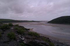 Moody cloudy views on camel trail Royalty Free Stock Images