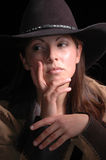 Moody Cowgirl. Portrait royalty free stock image