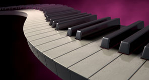 Moody Curvy Piano Keys Stock Photos