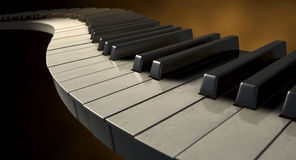 Moody Curvy Piano Keys Royalty Free Stock Photo