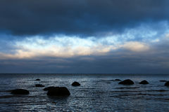 Moody day at Baltic coast. Royalty Free Stock Images