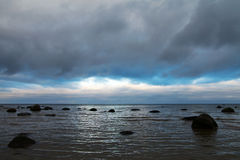 Moody day at Baltic coast. Stock Photography