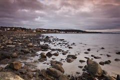 Moody beach day Royalty Free Stock Photography