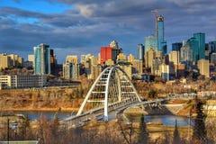 Moody Downtown Edmonton royalty free stock photo