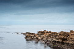 Moody dramatic seascape long exposure Royalty Free Stock Images