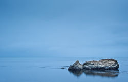 Moody dramatic seascape long exposure Royalty Free Stock Photo