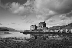 Moody Eilean Donan Royalty Free Stock Photos