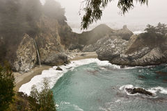 Moody Fog at McWay Falls Royalty Free Stock Images
