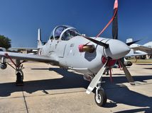 A-29 Super Tucano Attack Plane. Moody, Georgia, USA - October 27, 2017: The Embraer A-29 Super Tucano is a turboprop light attack aircraft used for counter Stock Images