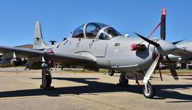 A-29 Super Tucano Attack Plane. Moody, Georgia, USA - October 27, 2017: The Embraer A-29 Super Tucano is a turboprop light attack aircraft used for counter Stock Photography
