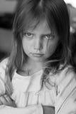 Moody girl. Portrait of  upset little girl Royalty Free Stock Images