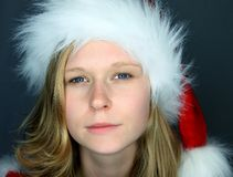 Moody Image of Miss Santa Stock Photography