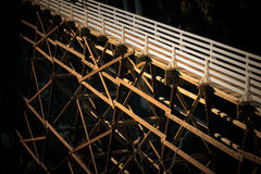 Moody image of pedestrian bridge Royalty Free Stock Images