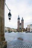 Moody Krakow market square, Poland, Europe Stock Photos