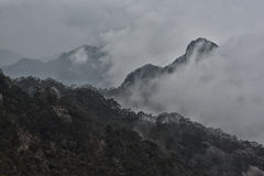 Moody landscape at Huangshan, Anhui China Royalty Free Stock Image