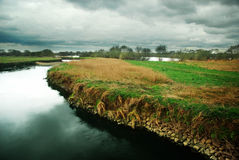 Moody landscape of the River Tame Royalty Free Stock Image